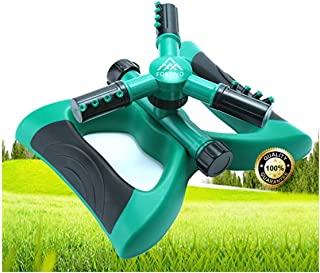 Lawn Sprinkler Garden Sprinkler -2019 Updated, Automatic 360 Rotating Adjustable Large Area, Water Sprinkler for Kids Yard...