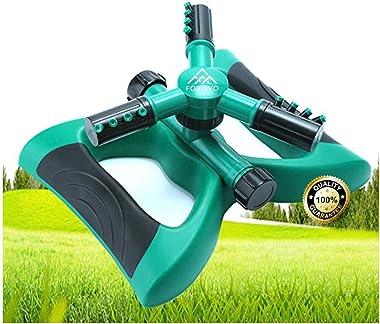 Lawn Sprinkler Garden Sprinkler -2021 Updated, Automatic 360 Rotating Adjustable Large Area, Water Sprinkler for Kids Yard Ir