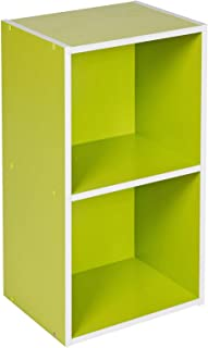 EliteKoopers Étagère de rangement en bois (1 pièce), Vert, 2 étages