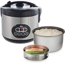 Solis Reiskocher und Dampfgarer, Weißer/brauner Reis, Timer