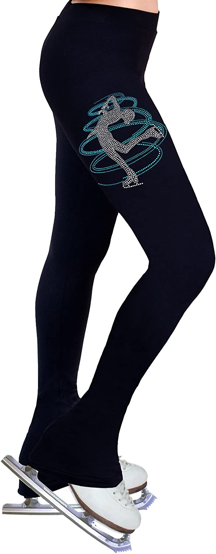 Figure Skating Practice Pants with Rhinestones R230