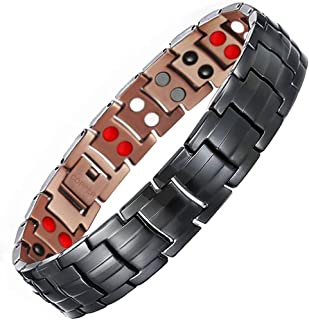 Minerals Magnetic Bracelet for Men Pain Relieving Bracelet for Arthritis and Carpal Tunnel with Link Removal Tool and Gift...