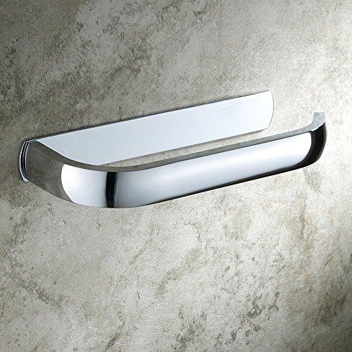Aothpher Modern Toilet Roll Paper Holder Wall Mounted Bathroom Tissue Rack, Brass, Chrome Finish (brass)