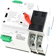 GAEYAELE W2R Mini ATS 2P Automatic Transfer Switch Electrical Selector Switches Dual Power Switch Din Rail Type ATS 63A 100A (W2R 2P 63A)