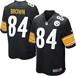 Nike Pittsburgh Steelers Antonio Brown NFL Youth Black On-Field Home Jersey (Youth Small 8)