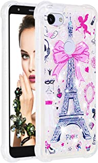 ISADENSER Google Pixel 3a XL Case Clear Soft TPU Glitter Stylish Design with air Thicked Corner 3D Hearts Quicksand Shiny Flowing Liquid Protective Cover for Google Pixel 3a XL (2019) Paris Tower YB