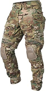 G3 Army Combat Pants Knee Pads Multicam/Black Pro for Airsoft Hunting Military Paintball Outdoor Camo Rip-Stop Tactical Trousers