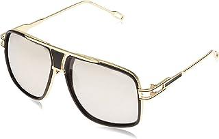 نظارات طبية بتصميم فينتاج باطار كبير اسود وعدسات شفافة للرجال