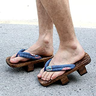 YYTIANYY Flip flop Cosplay Geta Clogs Slippers Japanese Wooden Shoes Men Women Sandals-B_36 Wooden slippers (Color : C, Si...