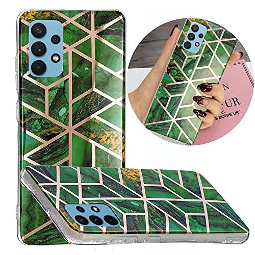 Hongjian Funda para Samsung Galaxy A32 4G SM-A325F, SM-A325M SM-A325F/DS, SM-A325M/DS Plating TPU Soft Case Cover 7