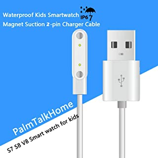 Smartwatch Magnet Suction Interface Charging Cable for PalmTalkHome Waterproof IP67 Smart Watch Phone S7 S8 S9 S1 S2 S12 4G Smartwatch