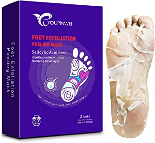 Exfoliating Foot Peel Mask YOUPINWEI for Dead Skin and Dry Heels, Peeling way Calluses and Dead Skin Remover, Get Soft and...