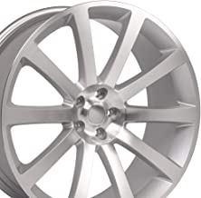 OE Wheels 22 Inch Fits Chrysler 300 Challenger SRT8 Charger SRT8 Magnum 300 SRT Style CL02 Silver Machined 22x9 Rim Hollander 2253
