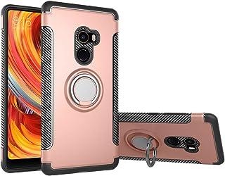 Funda Xiaomi Mi mix 2 con montaje en coche, GOGME Rugged TPU / PC Cubierta de doble capa Hybrid Carcasa y 360 ° Rotación Kickstand 2 en 1. rosa dorada