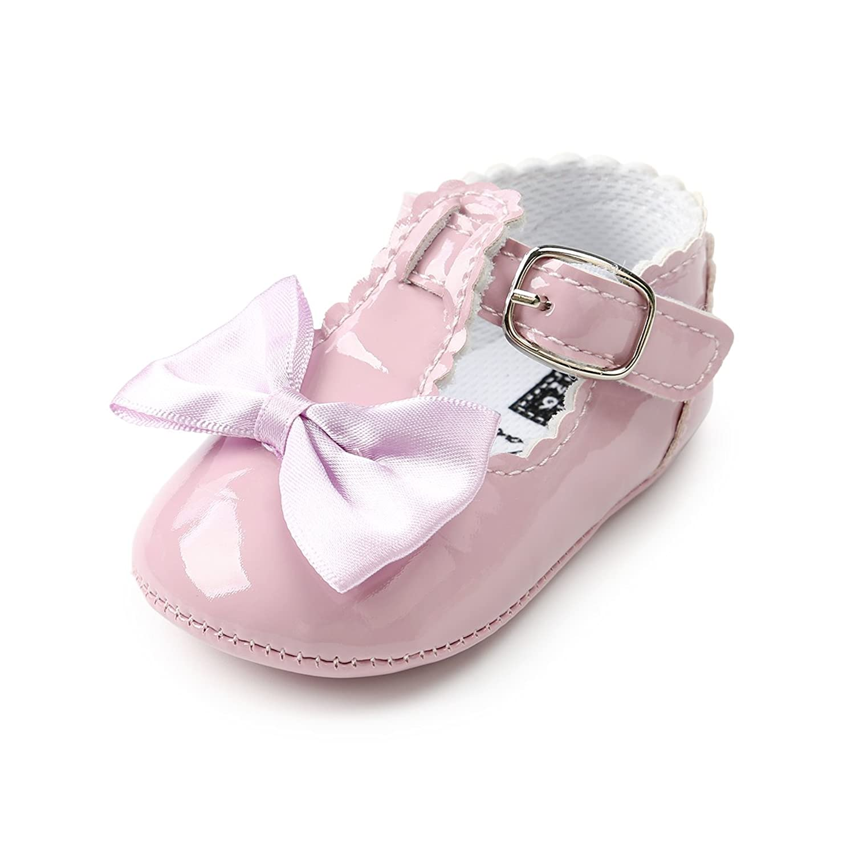 [Sylvamorning] ベビーシューズ 人気 フォーマル靴 女の子用 キッズ フォーマルシューズ 入園式 結婚式 発表会 歩行練習靴 通気 子供用 無地 蝶結び 履き脱ぎやすい
