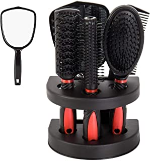 Healthcom Hair Combs Salon آرایش مو ابزارهای یک ظاهر طراحی شده مو برش برس مجموعه ای از مجموعه ای از لوازم آرایش، مجموعه 5