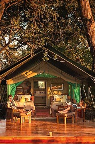 Bushtec Adventure Echo 2200 Luxury Waterproof Ripstop Canvas All-Season 3 Room Glamping Resort Style Tent