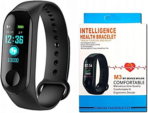M3 Intelligence Bluetooth Health Wrist Smart Band Watch Monitor Smart Bracelet Activity Tracker Smart Fitness Band Compatible For All Androids And Ios Phone Tablet