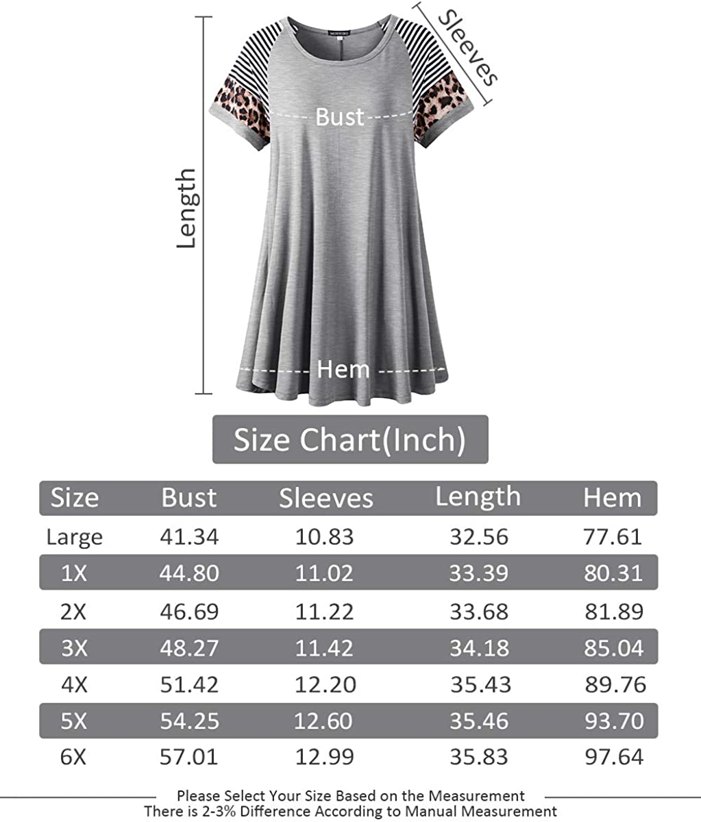 MONNURO Women's Color Block Short Sleeve Plus Size Tunic Tops Casual Loose Scoop Neck Summer T-Shirts
