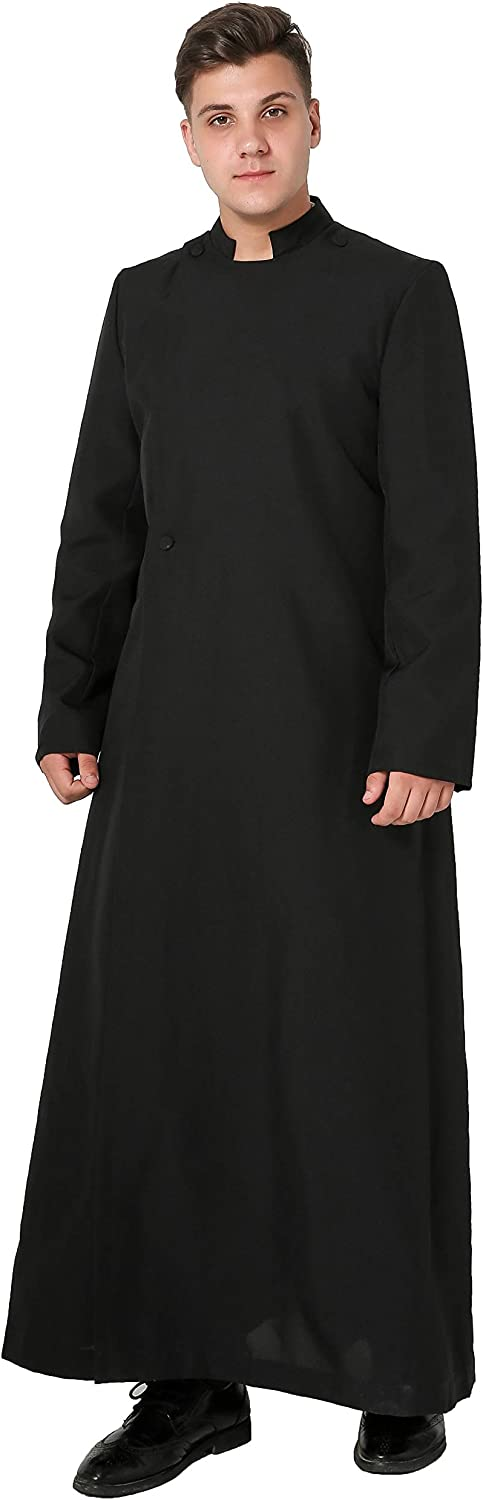 IvyRobes Unisexadult's Clergy&Pulpit Cassock Black