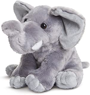 Aurora 19266 Destination Nation, Soft Toy, Cuddly Elephant for Adults and Children, 10Inch, Grey, White