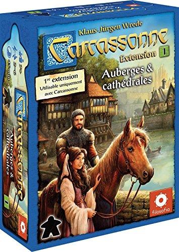 Asmodée - CARC03N - Carcassonne Extension - Auberges et Cathédrales - Jeu de Stratégie