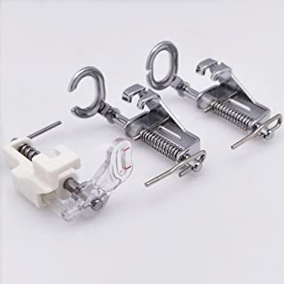 YEQIN 3pcs Large Metal Darning/Free Motion Sewing Machine Presser Foot for All Low Shank Brother Singer Janome Babylock and More Sewing Machines - Include Close Toe, Open Toe and Quilting Foot