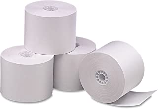 PM COMPANY 2-1/4 x 165 Feet Single Ply Thermal Cash Register/POS Rolls, White, 6 per Pack (PMC05212)