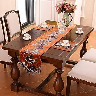 Accueil Linge De Table Chemin De Table Blue Table Runner Jacquard Table basse Jacquard Runner avec Tassels Dresser Foulard...