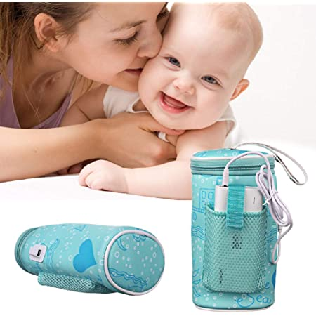 Insulated Portable USB Milk Heating Bag Carrier for Warms Baby Milk to Perfect Tempature Universal Milk Water Bottle Cup Warmer PITCHBLA Travel Car Bottle Warmer for Baby Milk