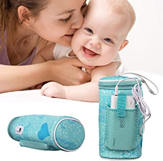 Lucktao Portable USB Baby Bottle Warmer Heater Insulated Bag Portable in Car Heaters Drink Warm Milk Thermostat Bag for Feed Newborn