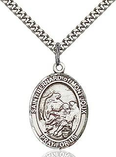 Sterling Silver Catholic Saints Medal Pendant, 1 Inch