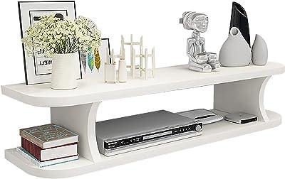Met Love Componentes de TV 2 Capas Console TV Home Media Media Entretenimiento Manteneros de Almacenamiento, Rack de Almacenamiento para estantes flotantes TV Muebles de Pared.