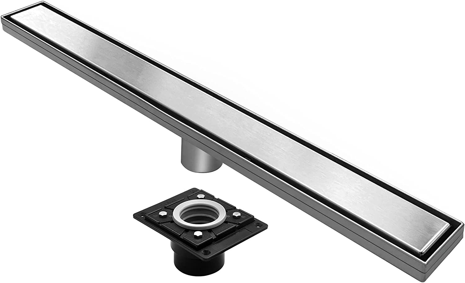 BESTTEN low-pricing Modern Designer 28 Inch B Indianapolis Mall Shower Drain Linear with