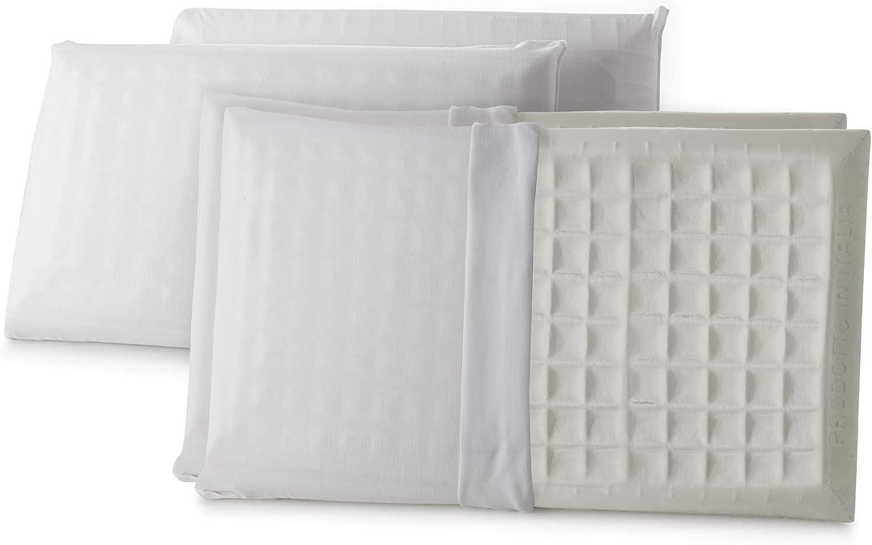 Singolo Foam Bianco Talamo Italia Cuscino Memory Relaxin Made in Italy Antiacaro e Anallergico SAPONETTA 42X72X11 CM