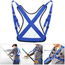 Fishing Shoulder Back Harness, Adjustable Sea Fishing Rod...