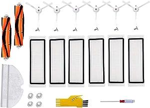 يونيس استبدال الملحقات كيت ل Xiaomi mijia Roborock S50 S51 S55 S5 S6E35 E25 E20 مع مرشحات هيبا، فرش رئيسية، فرش جانبية، قم...
