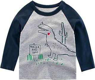 K-Youth para 1 a 7 años Ropa Bebe Niño Otoño Invierno Camiseta Manga Larga Bebe Blusa de Niños Estampado de Animal Ropa pa...