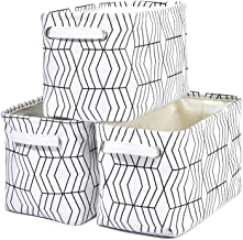 Kaaltisy Rectangular Storage Baskets Collapsible Shelves Organizer Baskets Open Storage Bins Containers for Closets, Set of 3