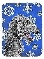 Caroline's Treasures Scottish Deerhound Winter Snowflakes Mouse Pad/Hot Pad/Trivet (SC9789MP) [並行輸入品]