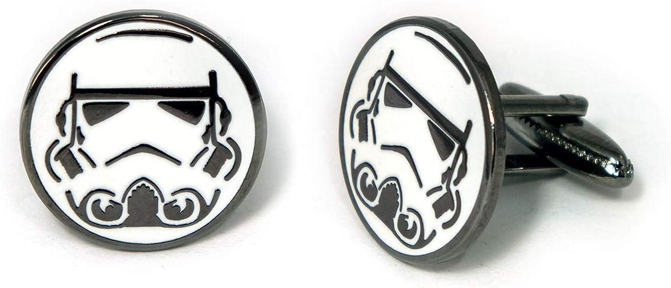 Stormtrooper Cufflinks, Star Wars Tie Clip, Jedi Tie Tack Jewelry, Darth Vader Cuff Links, Kylo Darth Maul Death Star Gift, Star Wars Captain Phasma Wedding Party Groomsman Gifts