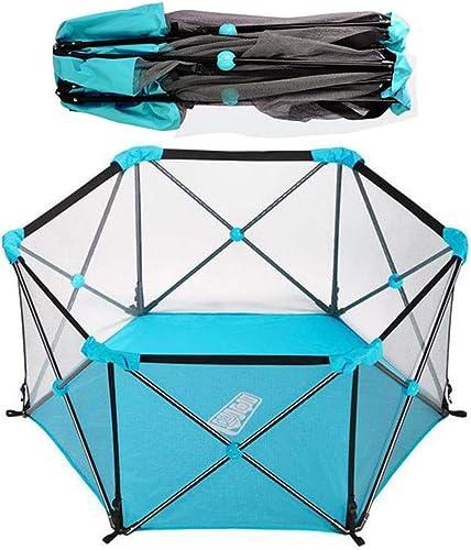 hermoso HSRG Bebés Parque Infantil Hexagonal Valla Plegable para bebés Centro Centro Centro de Actividades para Niños pequeños Patio de recreo para el hogar Segura de rastreo Fácil de ensamblar,azul  envio rapido a ti