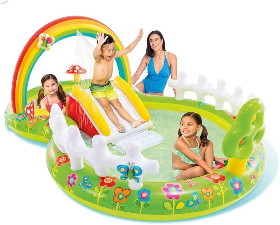 New life LANGWEI Inflatable Water Max 71% OFF Slide Park with Blower Kids