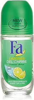 Fa Caribbean Roll-On Deodorant Lemon 50 ml 48-hour - 3-pack