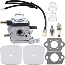 Dalom C1U-K54A Carburetor for 2-Cycle Mantis Tiller Cultivator 7222 722E 7222M 7225 7230 7234 7240 7920 7924 w Air Filter Fuel Line Primer Bulb