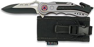 Albainox 19461gr1015 Couteau Sécurité Avec manche en aluminium, lame non crantée 8,1 cm, unisexe adulte, gris