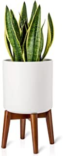 Mkono Plant Stand Mid-Century Modern Plant Stand Indoor Flower Pot Holder Home Decor(Plant and Pot NOT Included),Brown