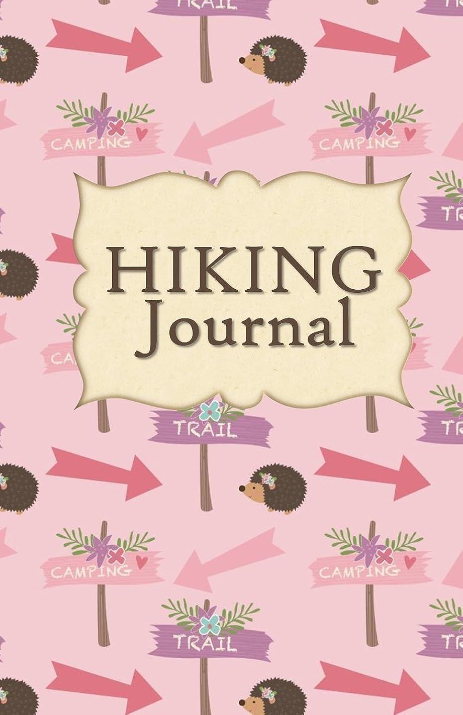 調停する忘れっぽい学士Hiking Journal: Hike Log Book - 50 Hikes - Compact Hiking Notebook (Outdoor Journal - Travelers Notebook -  for Boy Scouts or Girl Scouts and Hikers - Pink Hiking Trails