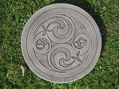 Celtic 2 swirl Stepping stone garden ornament