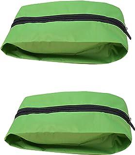 HUI JIN Lot de 2 sacs de rangement imperméables avec fermeture éclair pour chaussures à talons hauts et baskets Vert